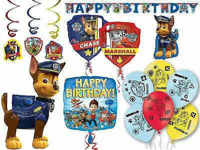 Paw Patrol Party Decorations Birthday Balloons Childrens Banner Supplies Boys