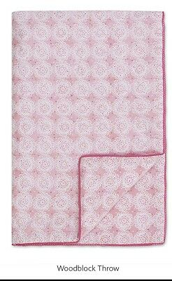 pink woodblock throw from next RRP £30 brand new