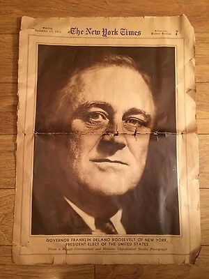 NNEWSPAPERS ANTIQUE LOT 20s early 30s BOSTON NEW YORK ROOSEVELT COOLIDGE HISTORY
