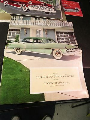 1954 De Soto Automatic 20 page Brochure w/ Post Card