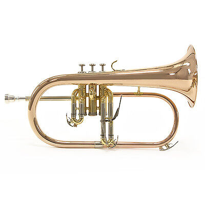 New Coppergate Flugel Horn with Case and Rose Bell
