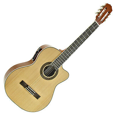 New Deluxe Classical Electro Acoustic Guitar by Gear4music