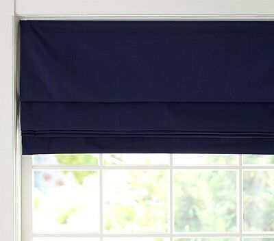 "INSOLA INSULATED CORDLESS CHATHAM ROMAN CELLULAR WINDOW SHADE 30"" x 64"" BLUE"
