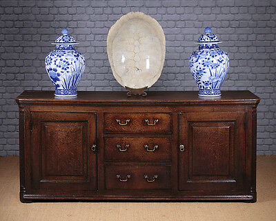 Antique 18th.c. Oak Dresser Base c.1780.