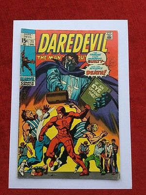 DAREDEVIL #71 Bronze Age Marvel Comics 1970  VG/FN
