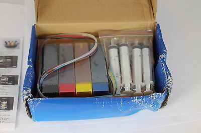 Epson D92 (T711/4) CISS System Chipped Latest Version Cartridges 100ml Prefilled