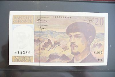 SUPERBE BILLET 20 FRS DEBUSSY  1997 / NEUF / COLLECTION DU XX ° Siècle !!