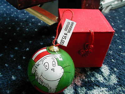 Dr Seuss Cat In The Hat Christmas Bauble Ornament Hand Painted Brand New Boxed