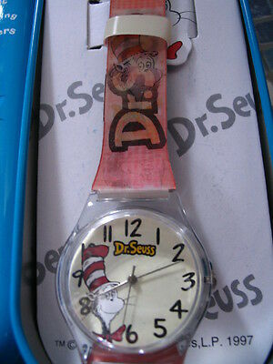 Dr Seuss Cat In The Hat Lenticular Watch Leather Strap Very Rare Brand New!!
