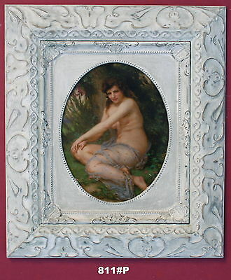 Nude Lady Framed Oleograph/ Oilograph  811#P  Reproduction Picture , Art     .