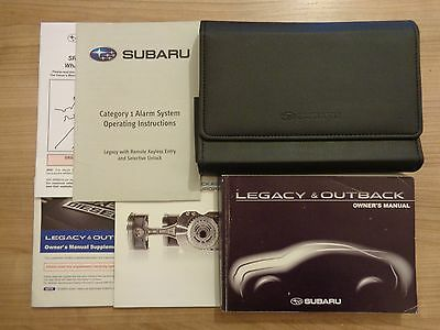 Subaru Legacy/Outback Owners Handbook/Manual and Wallet 09-13