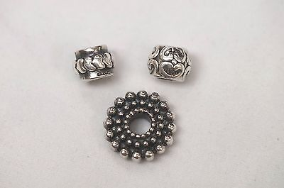 Italian .925 Sterling Silver Charms Hearts, Spacer - Not Pandora