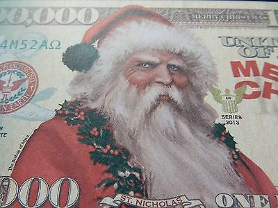 Novelty $1 million banknote bill Xmas Present Bishop of Myra $1,000,000 Father