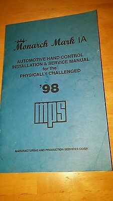 Monarch Mark 1A manual only