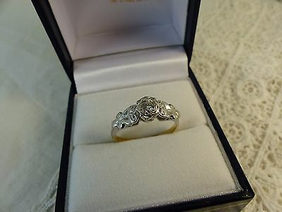 Vintage 18ct Gold & Platinum Solitaire Diamond Ring,0.20ct Size M