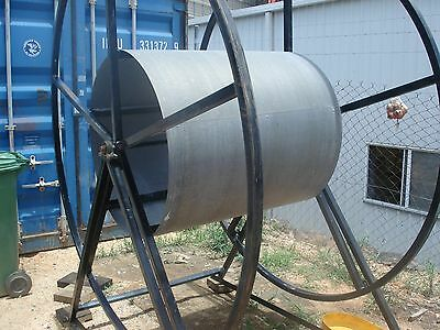 hose reel power driven ,hose,irrigation or material delivery  ducting power reel