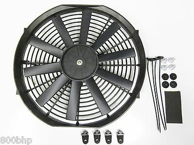 """13"""" / 33cm Universal Radiator Electric Cooling Fan with Fitting Kit (Slimline)"""