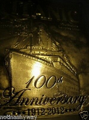 100th Anniversary RMS SS TITANIC 23K Gold Card Medal Coin Ocean Ship Cruise Boat