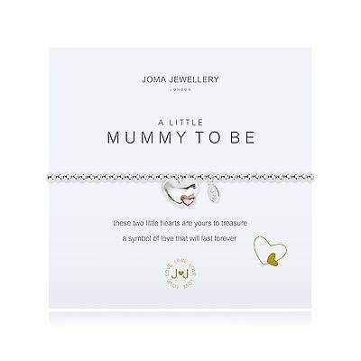 Joma Jewellery a little Mummy to Be silver & rose gold heart bracelet, gift bag