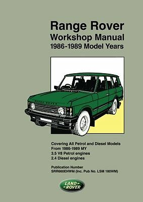 Range Rover Workshop Manual 1986-1989 Copertina flessibile