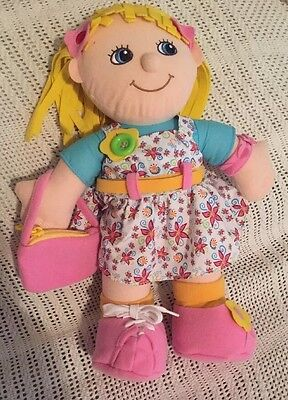 Kidoozie Plush Doll-Learning to Dress Emily-Int. Playthings-Fine Motor Skills