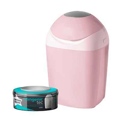 Pink Sangenic Nappy Disposal Bin By Tommee Tippee For Odour Protection