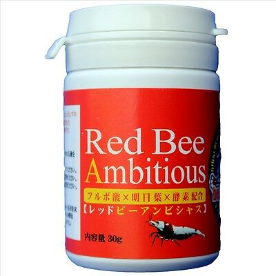 BENIBACHI RED BEE AMBITIOUS Crystal Red Cherry Shrimp Taiwan Tiger Food Tank