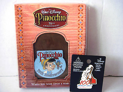 New Walt Disney Pins Pinocchio 70Th Anniversary +100 Years Of Magic Mickey Mouse