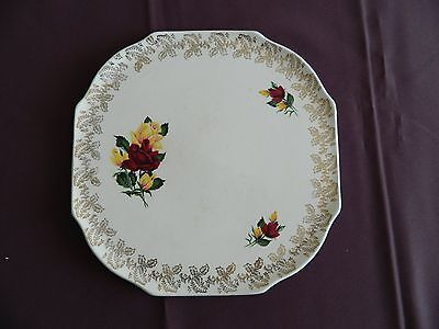 Vintage Cake Plate Lord Nelson Pottery England 6-65 3373