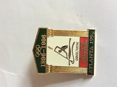 Atlanta Olympic Games 1996 Coke Sports Pictogram Temple Pin: Canoe/Kayak