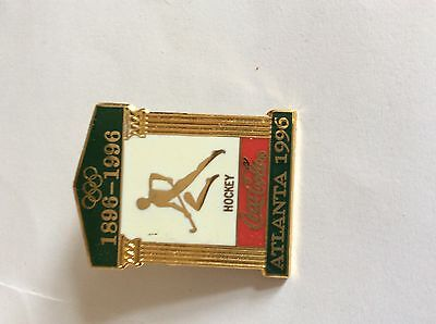 Atlanta Olympic Games 1996 Coke Sports Pictogram Temple Pin: Hockey