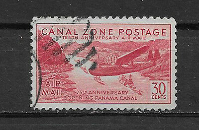 CANAL ZONE , US , 1939 , AIR MAIL , CLIPPER OVER GAILLARD CUT , 30c STAMP , USED