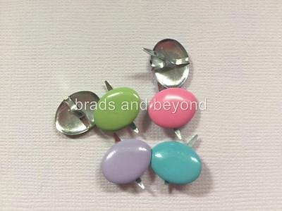 BB BRADS EASTER EGGS pk of 6 coloured scrapbooking split pin