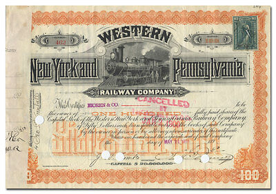 Western New York and Pennsylvania Railway Company Stock Certificate
