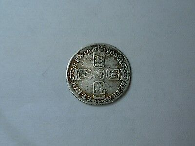 1696 King William III silver sixpence Fine