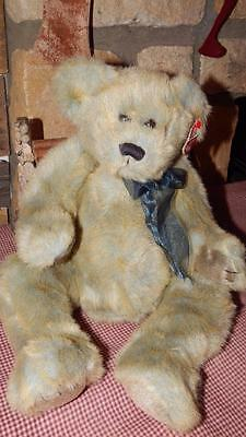 "1999 TY CLASSIC PLUSH BELVEDERE the TEDDY BEAR W/ TAGS 18"" Large Stuffed EUC"