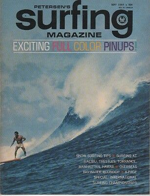 RARE 1964 PETERSEN'S SURFING Magazine Vol. 1, # 3 TRESTLES Hawaii MAKAHA Malibu