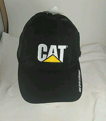 Cat caterpillar hat truckers cap cleveland brothers adjustablle hook and loop