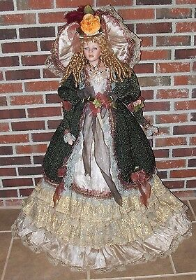 "Beautiful 42"" Victorian Porcelain Doll by Ashley Belle Extra Large - Wow!!"