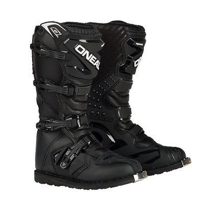 NEW 2017 Oneal Rider Motocross Offroad Adult Boots MX BLACK / BLACK MANY SIZES
