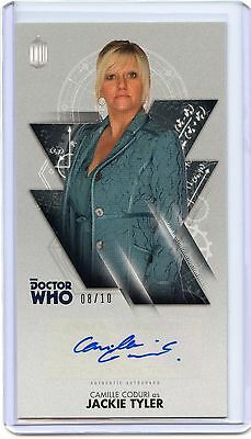 2016 Topps Doctor Who Widevision SILVER Camille Coduri As Jackie Tyler Auto! /10