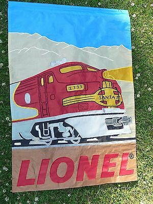 "Large Lionel Santa Fe Train Model Yard Flag Display Railroading 40"" x 28"""
