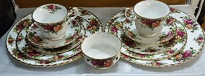 X 2  Royal Albert Old Country Roses 5 Place Setting,