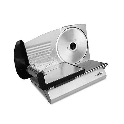 NEW 150W Compact Design Kitchen Food Meat Slicer w/ Stainless Steel Blade Silver