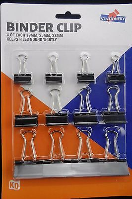 12 Binder Clip - Keep Files Bound Tightly - Free Postage - Quality Made
