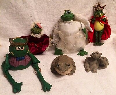 FROG Figurine VNTG Collection Sandicast, Russ, Second Nature, Wooden & Ornament
