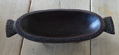 Old wooden hand carved tray/dish