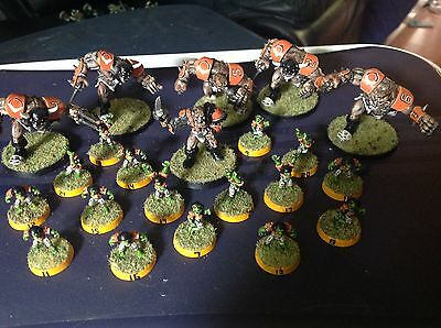 """Blood Bowl full Ogre Team of 22 excellently painted and based """"Chicago Ogres"""""""