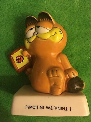 Garfield Ceramic Rare Misprint Error -I Think I'm In Love -Ideal Gift Free Post