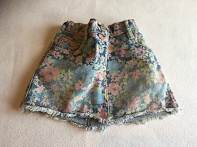 Baby Girls Clothes 9-12 Months - Pretty Next  Denim Skirt -